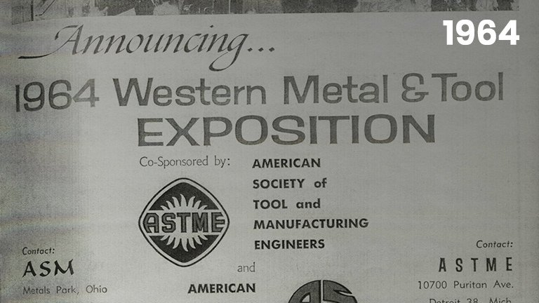 First Western Metal and Tool Exposition Conference is Held